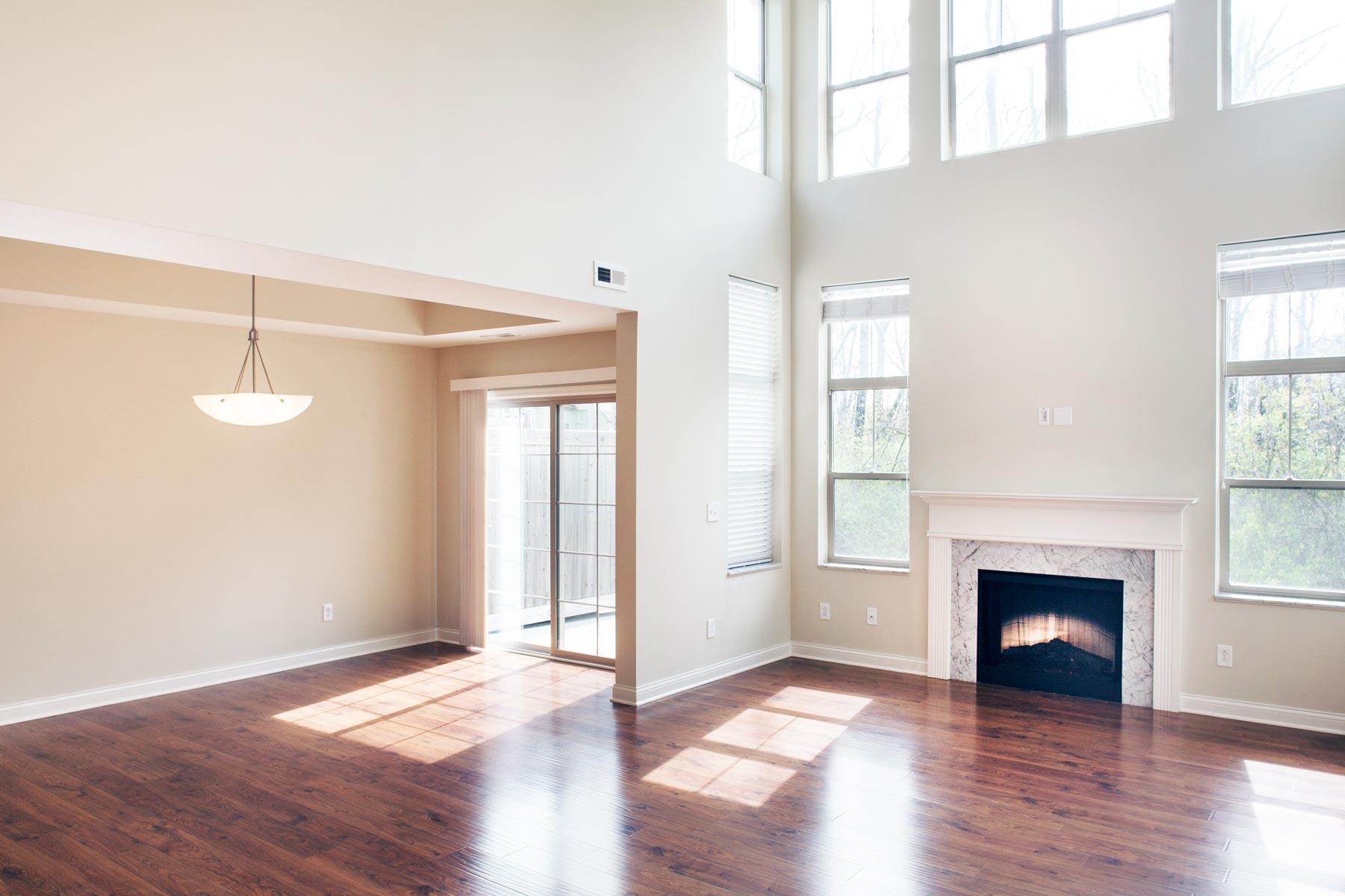 living room and back door